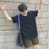 日系情侶夏季男純色T恤休閒修身短袖衣服韓版半袖【繁星小鎮】