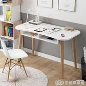ins北歐簡約家用電腦台式書桌學生寫字台辦公現代臥室小戶型桌子 生活樂事館NMS