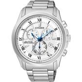 加碼第3年保固*CITIZEN 亞洲限量光動能萬年曆腕錶-白x銀/43mm BL5540-53A