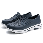 SKECHERS 休閒鞋 水鞋 GO WALK 5 CRUSIER 防水 深藍 男 (布魯克林) 243001NVY