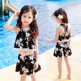 女童泳衣學生比基尼套裝寶寶分體小中大童泳衣褲 JD5179【KIKIKOKO】