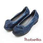 ★2017秋冬新品★itabella.璀璨耀眼水鑽羊皮包鞋(7588-51藍色)