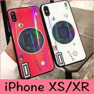 【萌萌噠】iPhone X XR XS Max 新品炫酷潮流 鐳射仿真復古相機保護殼 全包黑邊矽膠軟殼 手機殼