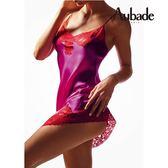 Aubade-Crepuscule 蠶絲M細帶短襯裙(桃紅.亮藍)VI40.42