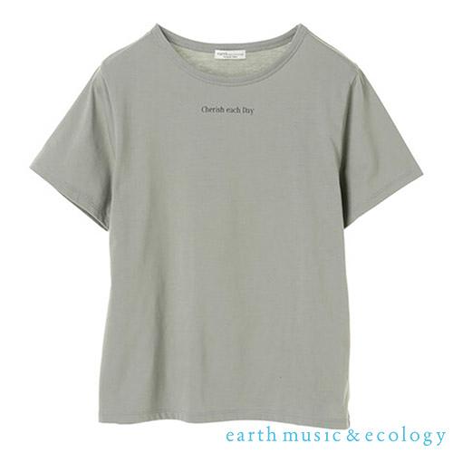 「Autumn」迷你標語照片打印圓領短袖T恤 - earth music&ecology