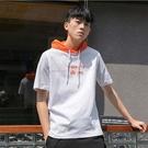 【精選新品任搭2件$499】連帽T恤夏季款男款時尚款連帽T恤