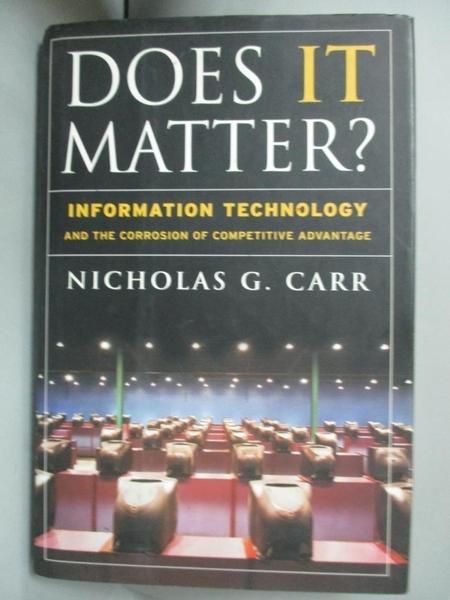 【書寶二手書T4/大學商學_LAO】Does It Matter?_Carr, Nicholas G.