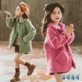 女童外套2019新款秋冬韓版洋氣冬裝加厚加絨羊羔絨中大兒童毛毛衣 JY15152『男神港灣』
