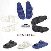 [Here Shoes]情侶鞋 親子鞋 全家鞋 室內外兩穿防水PVC 平底拖鞋 MIT台灣製 3色─ANDW006