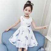 女童連身裙2020新款夏季洋氣時尚5小女孩白色洋裝8歲雪紡兒童公主裙子 LR23887『麗人雅苑』