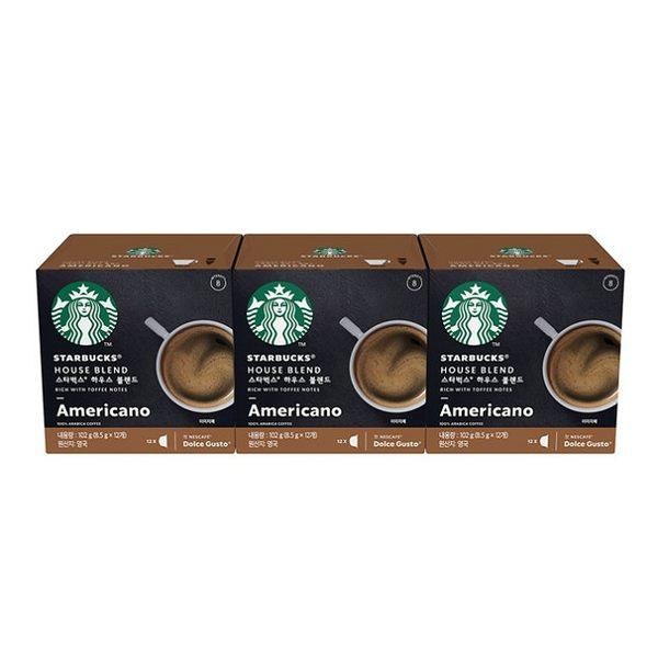 雀巢 星巴克家常美式咖啡膠囊 (3盒/36顆) 12398610 在家也能喝星巴克咖啡!