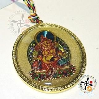 黃財神彩繪銅五色線項鍊【十方佛教文物】