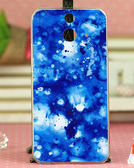 ✿ 3C膜露露 ✿ HTC One E8【藍色風*水晶硬殼 】手機殼 保護殼 保護套 手機套