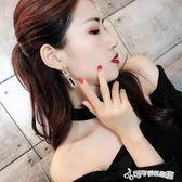 耳環 925銀針韓國氣質長款閃鑽耳環個性百搭吊墜耳墜潮人耳釘女 Cocoa