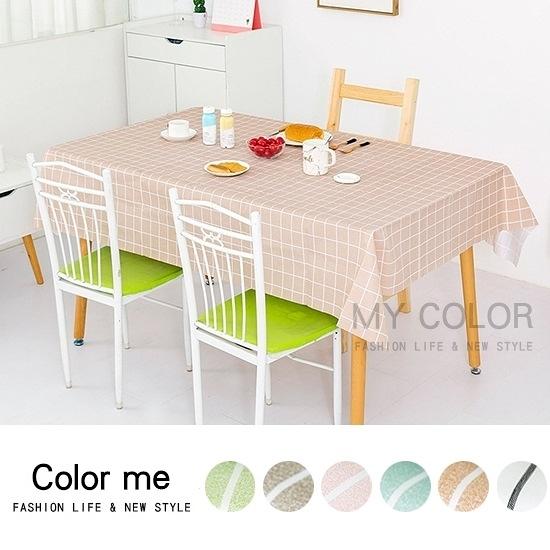 桌巾 PEVA 防水 櫥櫃墊 餐墊 野餐墊 桌墊 防塵 廚房 北歐格紋桌布【A017】color me 旗艦店
