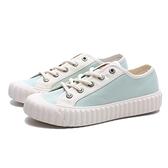 KANGOL 帆布鞋 莫蘭迪綠 白 撞色 餅乾鞋 韓版 休閒 女(布魯克林) 6052200371