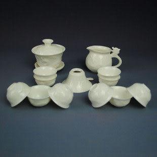 陶瓷器 瓷 13頭純白工夫茶具