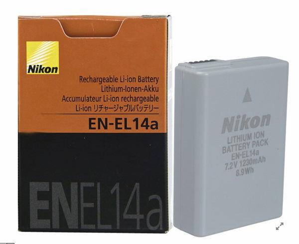 全新《完整盒裝》Nikon EN-EL14a 原廠鋰電池【D3100 D3200 D5300 D5200 】