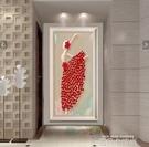 玄關裝飾畫現代簡約壁畫藝術油畫北歐單幅掛畫餐廳沙發背景牆牆畫QM 依凡卡時尚