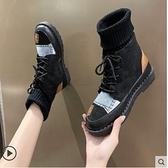 馬丁靴女潮ins2021年新款秋冬季英倫風網紅彈力瘦瘦雪地短靴棉鞋 3C數位百貨