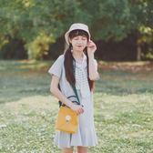 新款韓版文藝小清新單肩帆布斜挎包女森系迷你小包休閒水桶包 交換禮物