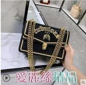 側背包小ck包包2020泰國蜜蜂包女復古小方包鎖扣錬條包側背斜背包潮交換禮物
