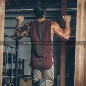肌肉健身運動背心男訓練服寬鬆無袖上衣坎肩跑步透氣籃球彈力   遇見生活