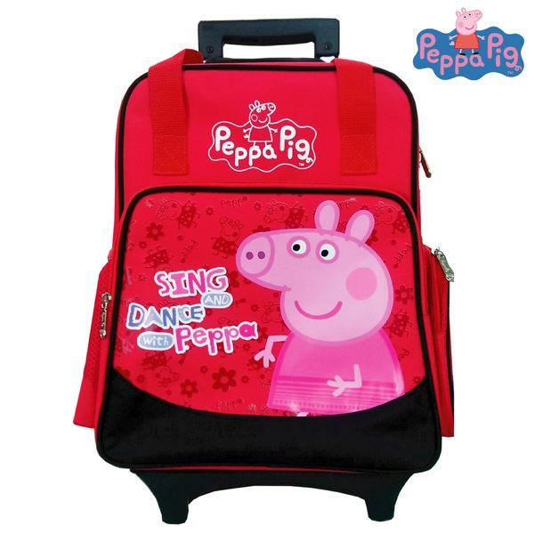 imitu【Peppa Pig 粉紅豬】三用可拆式鋁合金拉桿書包(梅紅_PP5814)佩佩豬