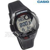 CASIO卡西歐 WS-2000H-1A 樂活首選輕量大錶面運動電子男錶 防水學生手錶 黑 WS-2000H-1AVDF