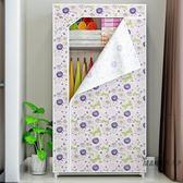 簡易衣櫃 單人簡易衣櫃 防潮布衣櫃加固鋼架衣櫥 組合衣櫃XW 聖誕交換禮物