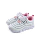Hello Kitty 休閒運動鞋 電燈鞋 白色 魔鬼氈 中童 童鞋 719863 no813