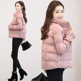 外套女冬季短款加厚棉襖修身羽絨棉服女裝面包服棉衣