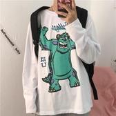 cec超火上衣新款韓版寬鬆卡通可愛學院風ins長袖T恤女打底衫 時尚芭莎