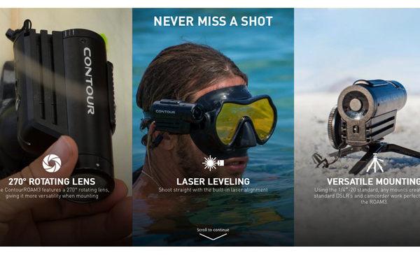 美國 Contour ROAM 3 3代 防水 1080P 極限 攝影機 衝浪潛水 生存遊戲