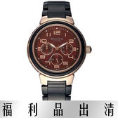【台南 時代鐘錶 Roven Dino】羅梵迪諾 RD625BRG-456 楊丞琳代言 隨想曲三環日期腕錶 紅/黑鋼 38mm