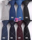 ★依芝鎂★K1018領帶棉質領帶拉鍊領帶6CM窄版領帶窄領帶,售價170元