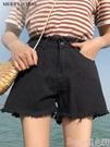 牛仔短褲黑色牛仔超短褲女夏高腰寬鬆2020新款韓版顯瘦百搭外穿a字闊腿褲 suger