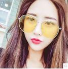 墨鏡女潮太陽眼鏡同款個性圓臉眼睛PLL532【男人與流行】