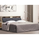 床架 AT-24-6A 北歐時尚6尺小夜燈雙人床 (床頭+床底)(不含床墊) 【大眾家居舘】