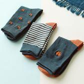 【3雙裝】潮男長襪提花刺繡文藝學院風襪子【聚寶屋】