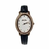 【Folli Follie】Wonder Fly晶鑽時尚橢圓真皮腕錶-氣質黑/WF18B046SSW_BK/台灣總代理公司貨享兩年保固