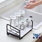 馬克杯收納架水杯架鐵藝瀝家用放杯子的置物架茶杯架【古怪舍】
