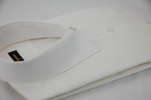 【金‧安德森】白色直條紋長袖襯衫