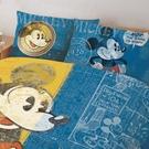 床包 / 雙人加大【迪士尼米奇復古版】含兩件枕套 高密度磨毛 戀家小舖台灣製ABF301