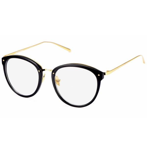 OT SHOP眼鏡框‧中性顯小臉平光眼鏡‧圓點鉚釘鏡框‧亮黑/霧黑/茶色/透明/豹紋/碎花‧現貨‧N26