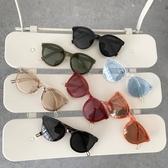 太陽/沙灘眼鏡 素顏大框原宿圓框墨鏡女正韓潮新品太陽鏡女大臉眼鏡圓臉 限時8折
