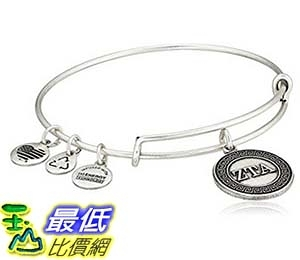 [美國直購] Alex and Ani Sorority Zeta Tau Alpha Expandable Rafaelian Wire Bangle Bracelet 手鐲