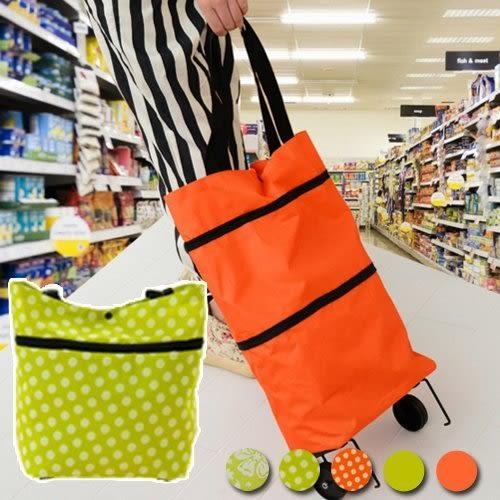 背包  牛津布兩用購物車 買菜車 折疊便攜拖輪包 旅行包 手拉包 環保購物袋