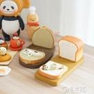 可愛泡芙吐司面包貓咪創意手機支架 日系桌面樹脂擺件情侶手機座