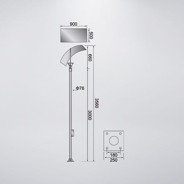 弧形戶外景觀燈 防水型 可客製化 可搭配LED